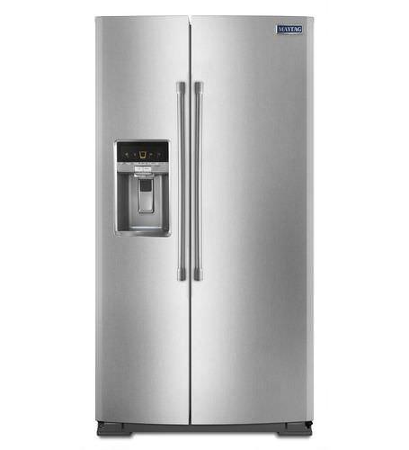 frigorifero per uso residenziale / americano / in acciaio inox / con dispenser d'acqua