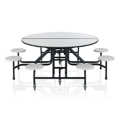 set tavolo e panca moderno / in legno / con rotelle / da interno
