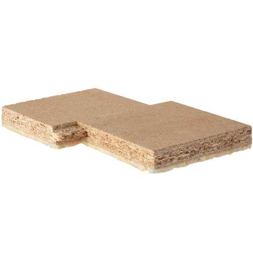 isolante acustico / in fibra di legno / per solaio / in pannelli