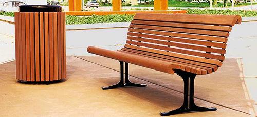 panca pubblica / moderna / in legno / in metallo