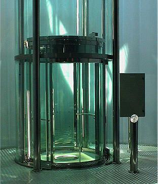 ascensore idraulico / per il settore terziario / panoramico