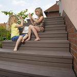 rivestimento per scalino in legno composito / antiscivolo / ad alta resistenza