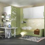 cameretta bianca / verde / in legno laccato / in alluminio laccato