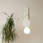 lampada a sospensione / design originale / in ceramica / in marmo