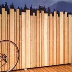 rete frangivista a pannello / in legno