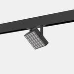 faretti a binario LED / quadrata / in metallo / per negozio