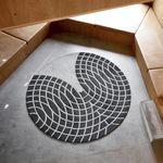 tappeto moderno / geometrico / in lana della Nuova Zelanda / rotondo