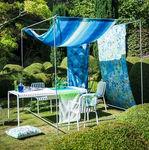 tessuto da tappezzeria / per tende / per protezione solare / a motivi