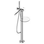 miscelatore per vasca / a pavimento / in metallo cromato / da bagno