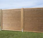 recinzione da giardino / a lamelle / in pino / paravista