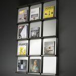 portariviste moderno / per ufficio / in acciaio / in alluminio