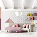cameretta bianca / rosa / in legno / per bimba