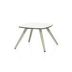 tavolino basso moderno / in metallo / in HPL / quadrato