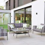divano classico / da esterno / in tessuto / alluminio