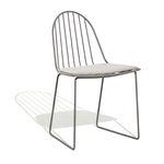 sedia da giardino moderna / a slitta / con cuscino rimovibile / in metallo