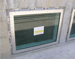 finestra fissa / in acciaio inox / a tripli vetri / a tenuta stagna