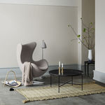 tavolino basso moderno / in marmo / con supporto in acciaio termolaccato / rettangolare