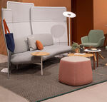 tappeto moderno / a righe / in polipropilene / rettangolare