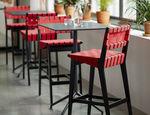 sedia alta moderna / imbottita / in cotone / in Sunbrella®