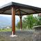 gazebo in legno / tetto in tela