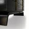 cassettone moderno / in legno / in metallo / nero