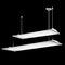 luce a sospensione / a lampada fluorescente / lineare / in alluminio