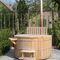 vasca per bagni caldi all'aperto in cedro