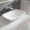 lavabo da appoggio / rettangolare / in porcellana / moderno
