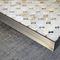 tavolino basso moderno / in acciaio / in onice / rettangolare