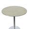 tavolo d'appoggio moderno / in acciaio inossidabile / tondo / contract