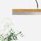 lampada a sospensione / design minimalista / in acciaio inossidabile / in quercia