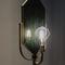 lampada da terra / design originale / in ottone spazzolato / in metallo laccato