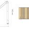 lettino prendisole moderno / in pino / in acciaio galvanizzato / in acciaio con rivestimento a polvere
