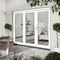 vetrata scorrevole impilabile / a libro / impiallacciata in legno / a doppi vetri