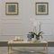 tavolino basso moderno / in ottone / in marmo / rettangolare
