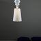 lampada a sospensione / moderna / in tessuto / in porcellana