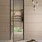 porta vetrata / da interni / battente / in alluminio