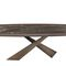 tavolo moderno / in ceramica / con supporto in metallo verniciato / con supporto in acciaio verniciato
