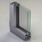 porta finestra battente / in alluminio / a tripli vetri / a taglio termico