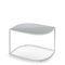 tavolo d'appoggio moderno / in acciaio inossidabile / con supporto in acciaio inossidabile / da giardino