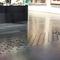 pavimento laminato altri materiali / a click / aspetto metallo / per edifici pubblici