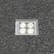 luce da incasso a pavimento / LED / quadrata / da esterno