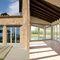 porta finestra battente / in legno / a taglio termico