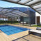 copertura per piscina a mezza altezza