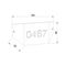 applique moderna / in acciaio / LED / rettangolare