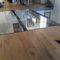 pavimento sopraelevato in acciaio / in vetro / da interno / da esterno