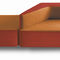 divanetto imbottito modulare / moderno / in legno / in polipropilene
