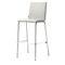 sedia alta moderna / imbottita / con poggiapiedi / in compensato stampato