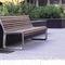 panca pubblica / moderna / in legno / in alluminio