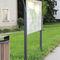pannello informativo per spazio pubblico